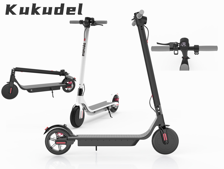 Kukudel Складная 853 Электрический Скейтборд Скутер Велосипед Складной Kick Scooter 36V 7.5ah Escooter 25 км / ч Мобильность Электрический скутер 01