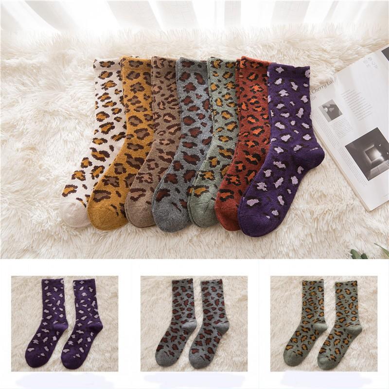 Frauen-Winter-Wärmer Socken Thick Knit Wolle Cosy Crew Socken Startseite Fuzzy Sockings für kaltes Wetter Weihnachtsgeschenke 7 Farben X707FZ
