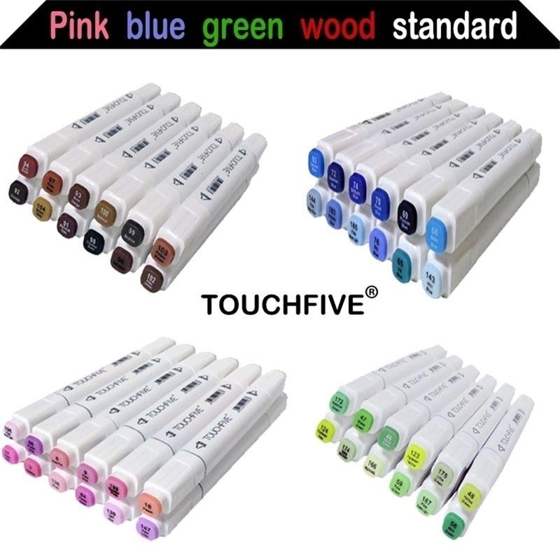 Sketch Art Marker Twin Tip Manga Animation Design Art Fournitures pour la peinture Illustration 12/24/30 Couleurs Touchfive Art Marker 201225