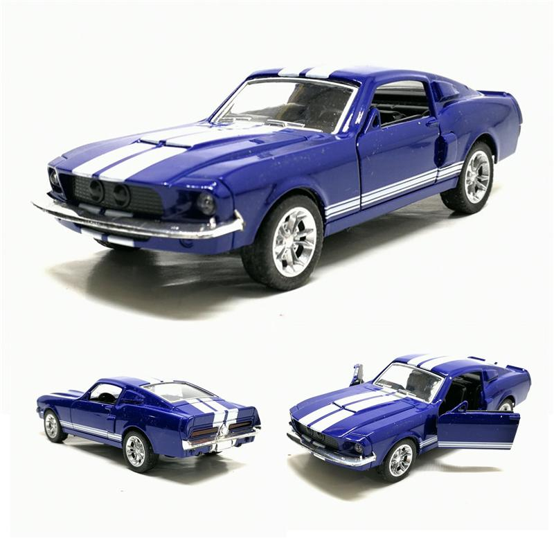 1:36 Ford Mustang GT 1967 GT500 Alloy Car Model Display Pull Back Children's Toy Gift Free Shipping