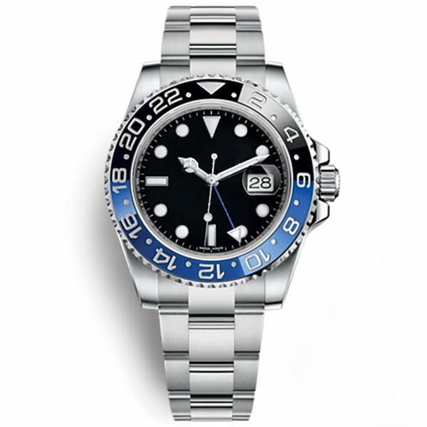 Uhren Männer Keramik Lünette Mechanische blaue schwarze Uhr Krone Automatische Sport Self-Wind Armbanduhren Chrono Chronograph Mode