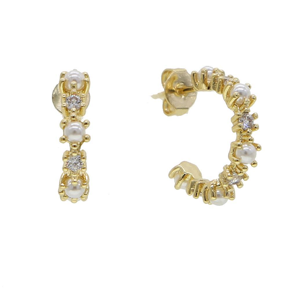 Perle fraîche perles cerceau mf boucle d'oreille à l'intérieur rond mer fraîche perle boule perle huggies cerceau boucles d'oreilles couleur