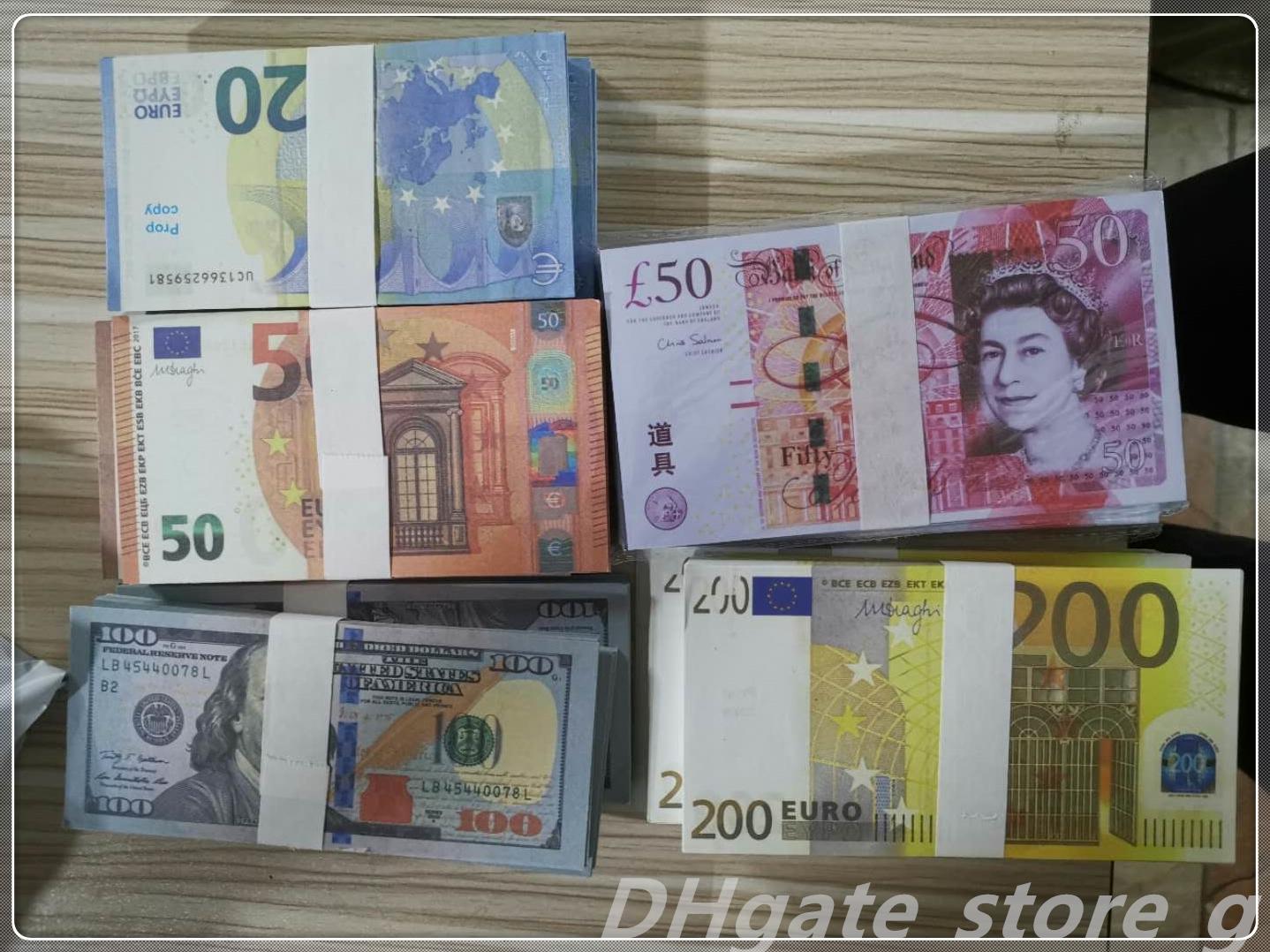 Atmósfera de dinero Mayor Pound Faux Cieqv Prop Money Play Play Billet Euro Money Fake Calidad NightClub Película Bar Barrete EUR LB-106 Top IUBEL