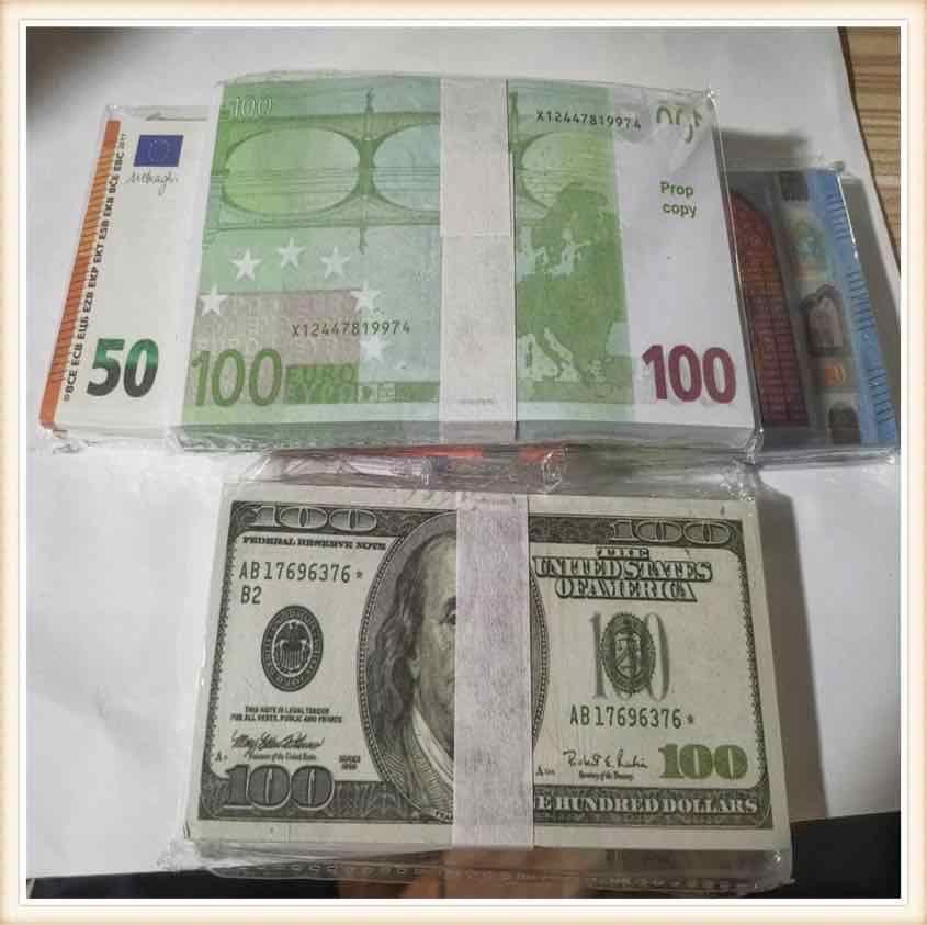 US-Dollar 20 100 heiße Verkäufe Gefälschte Geld Filme Prop 100 Euro Banknote Zählung Prop-Geld Festliche Party Spiele Spielzeug Sammlungen Geschenke D2E1D1