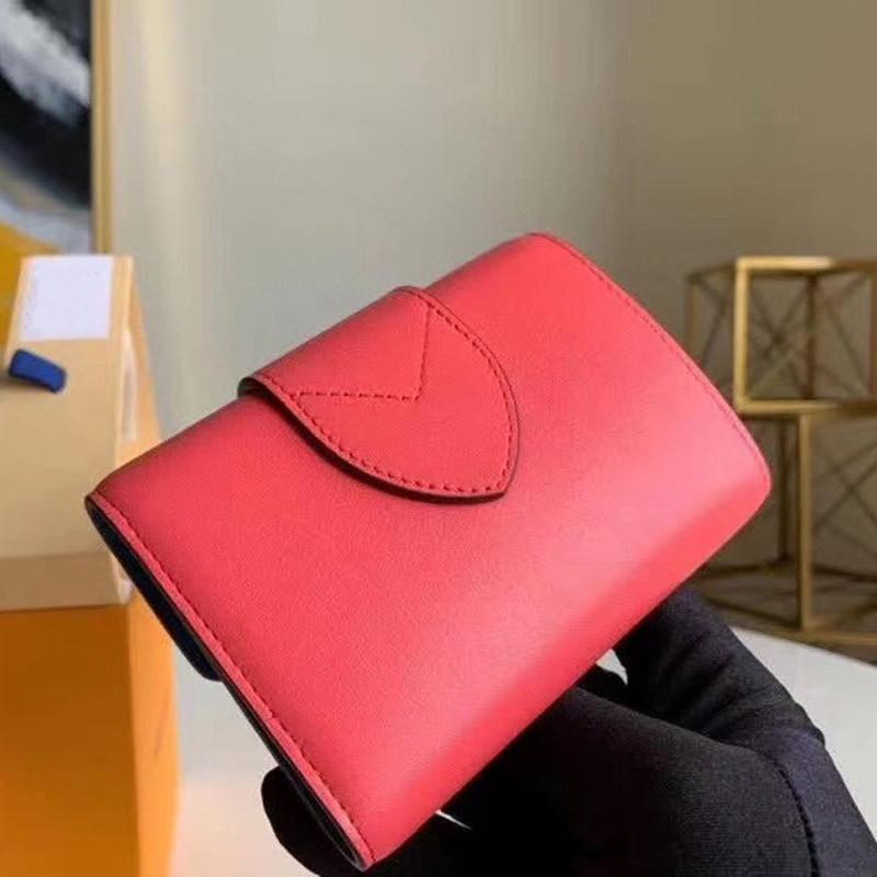 Bölme Kart Yuvaları Madeni Para Çanta Vintage L Pont 9 Klasik Moda Kısa Cüzdan Deri Unisex Logo Ayaklı Cüzdan