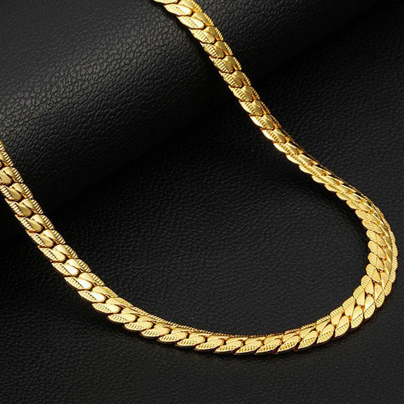 Erkek Kolye Altın Renk Paslanmaz Çelik Uzun Zincirler Kolye Erkekler Aksesuarları Takı için 2021 Renk Gerdanlık Hediyeler Boyun üzerinde