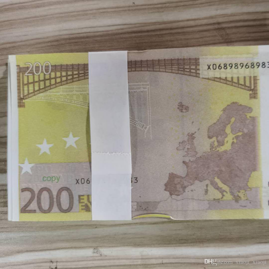 PROP TOY TOY 100PCS / PACK 200 Family Money Stimolazione I bambini giocano a noi carta da gioco o la maggior parte della copia banconota Euro Rujlu