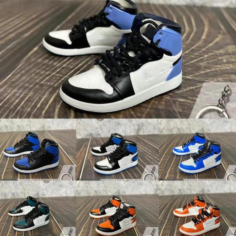 5 paia 3D sneaker portachiavi per donna uomini bambini portachiavi regalo scarpe moda portachiavi portachiavi auto borsa portachiavi scarpe da basket scarpe portachiavi