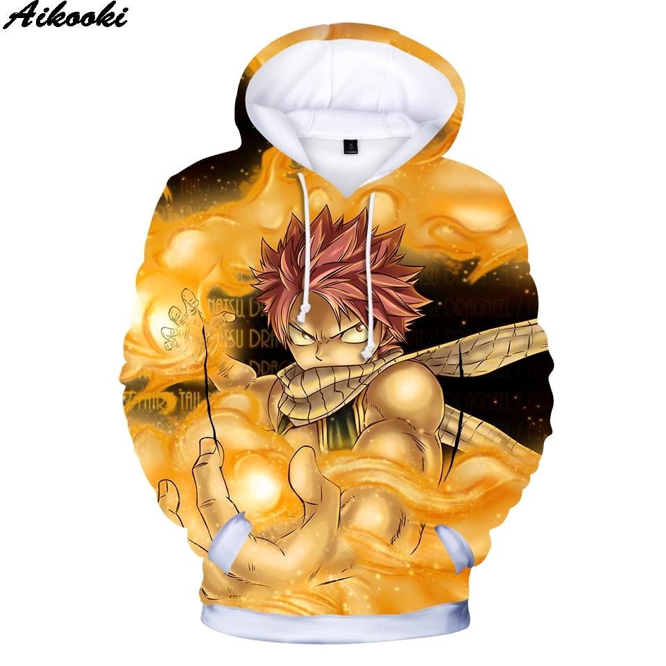 Venda quente fada Anime cauda 3D Hoodies dos homens / mulheres Sweatshrit Fada Alta Qualidade Cauda Mens camisola Hoodies capuz Roupa