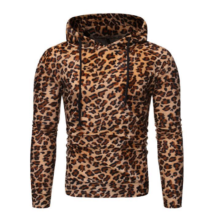 Leopard Mens Designer Hoodies Herbst-beiläufige lange Hülsen-mit Kapuze Sweater Halloween Bequeme Herrenbekleidung