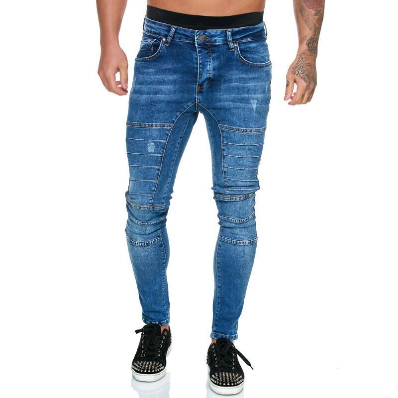 Sknny Jeans Pencil Pants Joogger Men Clothing Denim Pants Blue Jeans Streetwear Trousers Casual for Men