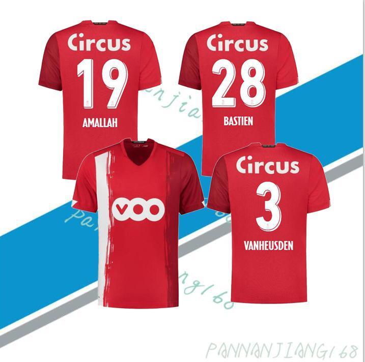 NCAA Standard Liège Soccer Jerseys Home Limbombe 2020 2021 R.Standard de Liège Vanheusden Laifis Cimirot Emond Carcela Football Shirts