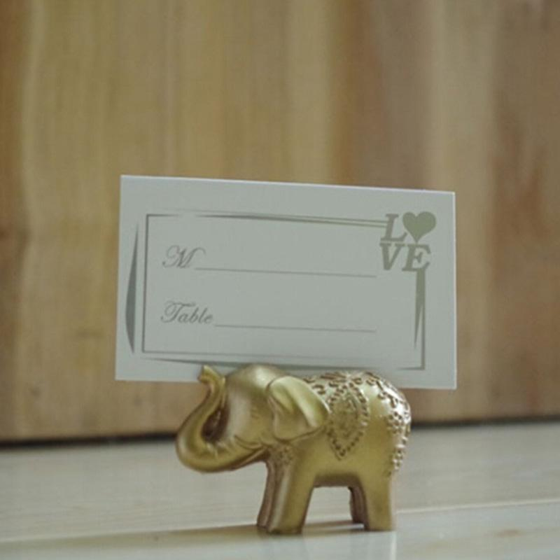 Creative For Seat Wedding Gift Accessories Fashion Elephant The Table Scene Props Golden Beautiful Card Clip Wedding Vodxi