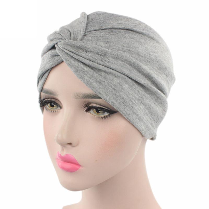 # 5 DROPSHIP 2020 nuove donne di modo Cancer Chemo Beanie sciarpa della testa del turbante Wrap Cap Equipaggiata Freeship