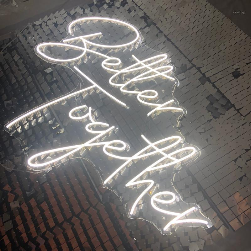 Better together neon signs led neon lights art Wall Decorative attractive party stage bar background1