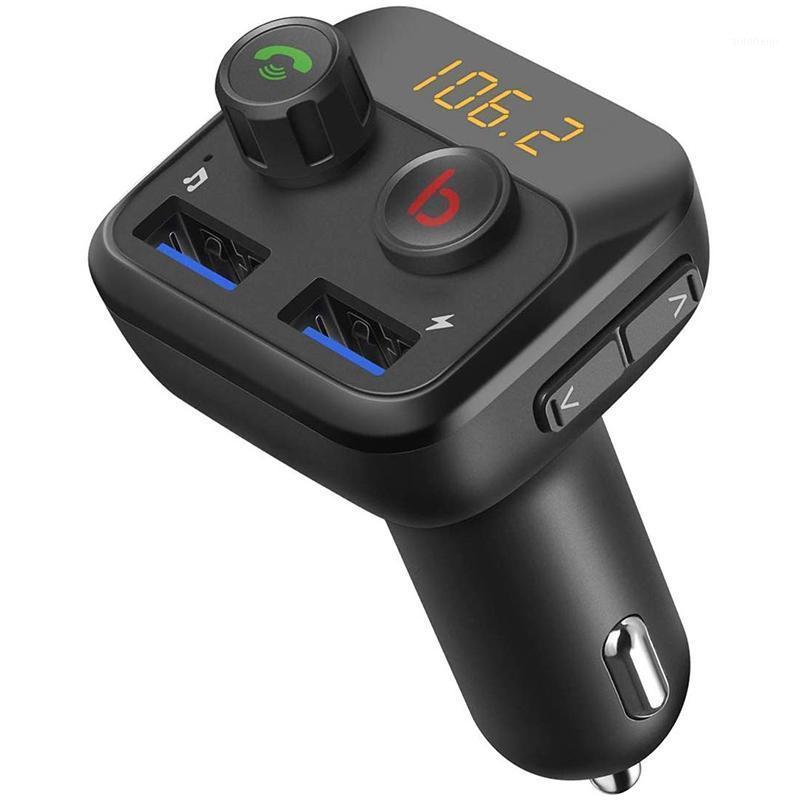 Автомобильный Audio V5.0 Bluetooth FM-передатчик для автомобиля, беспроводной радиоадаптер набор, двойной USB-порт, бесплатные призывы руки, поддержка US1