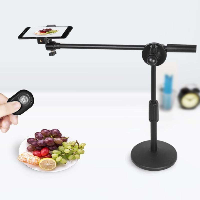 Photographic Studio Teléfono Shooting Soporte de escritorio ajustable Soporte de brazo Brazo Kits 35W LED Lámpara Luz de Lámpara Belleza Foto / Video en vivo