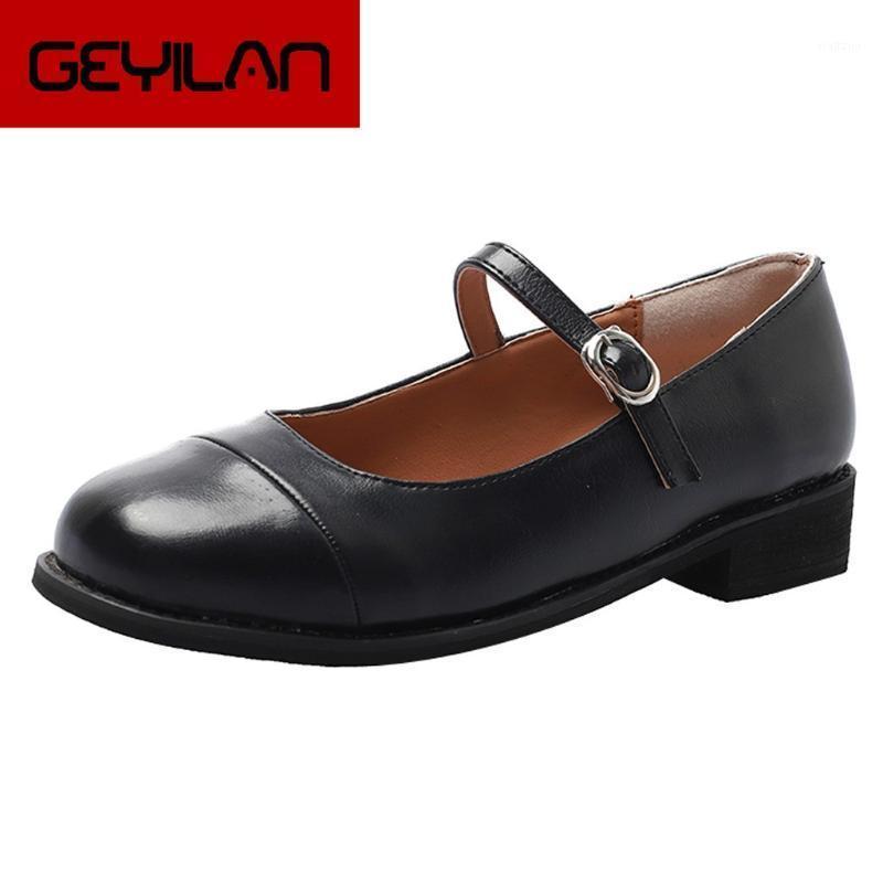 Retro Shallow Leather Shoes Women Pumps Single Shoes Simple Low Heel Ladies Comfortable Roman Leather Pumps Heels1