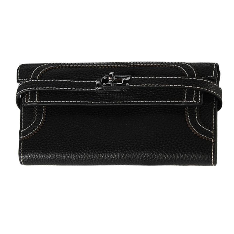 2020 Mode femme Wallet Croix de verrouillage pour les femmes d'embrayage à main en cuir véritable Lady Purse Card Phone Pocket Holder Filles Carteras