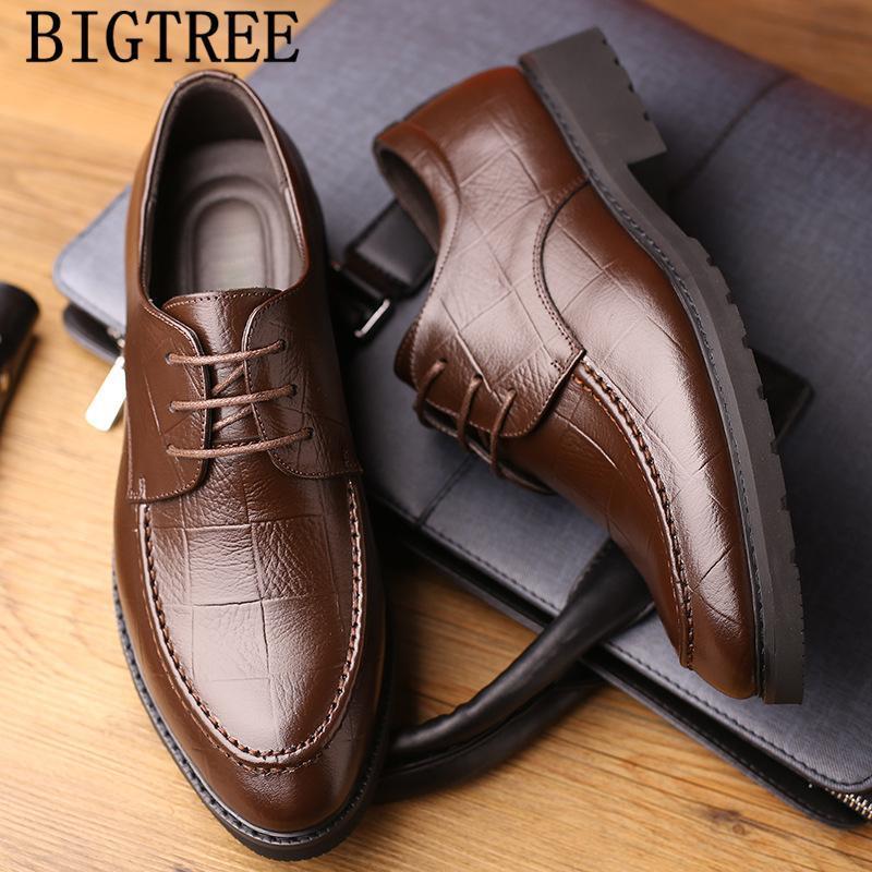 Обувь Оксфорд Мужчины Классический Формальной обувь Мужчина из натуральной кожи платье офис Coiffeur Erkek Ayakkabi Klasik