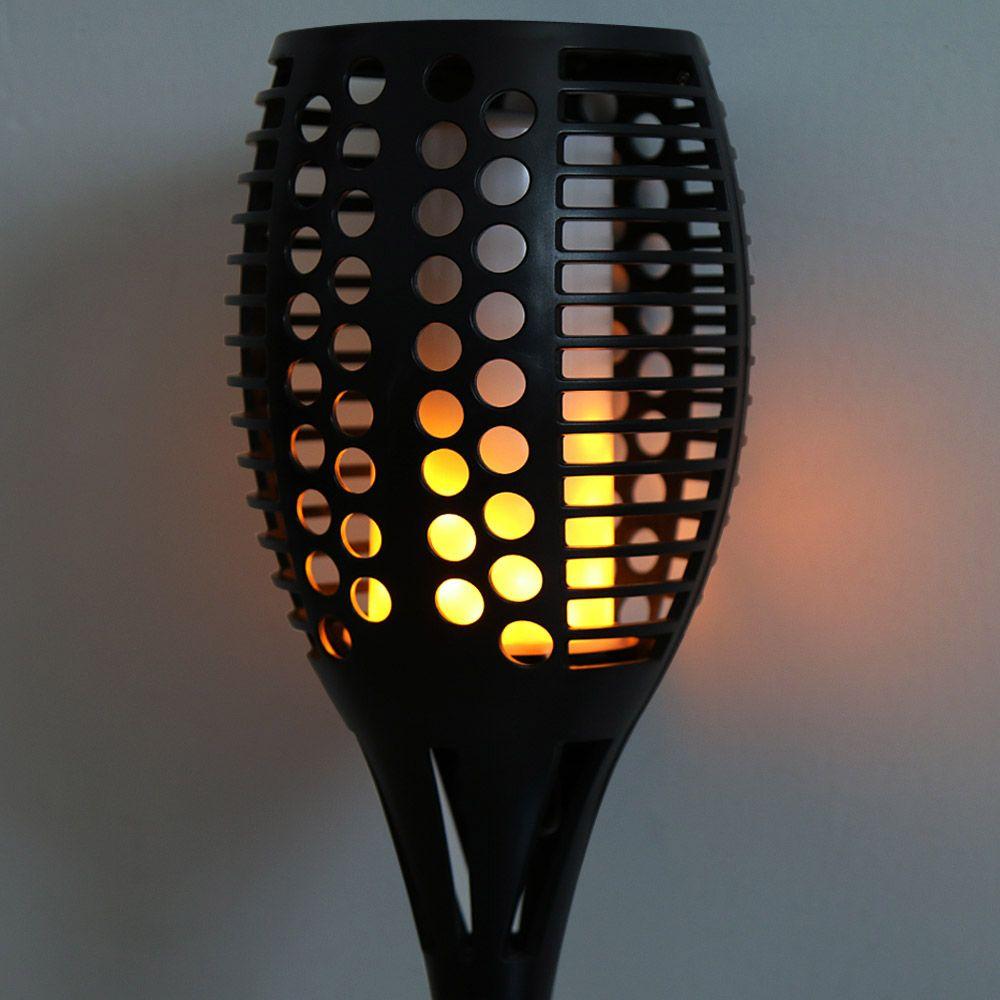 96-LED 토치 스타일 태양 에너지 따뜻한 흰색 빛 벽 램프 조명 컨트롤, 거실, 복도, 부엌, 침실에 대 한 블랙