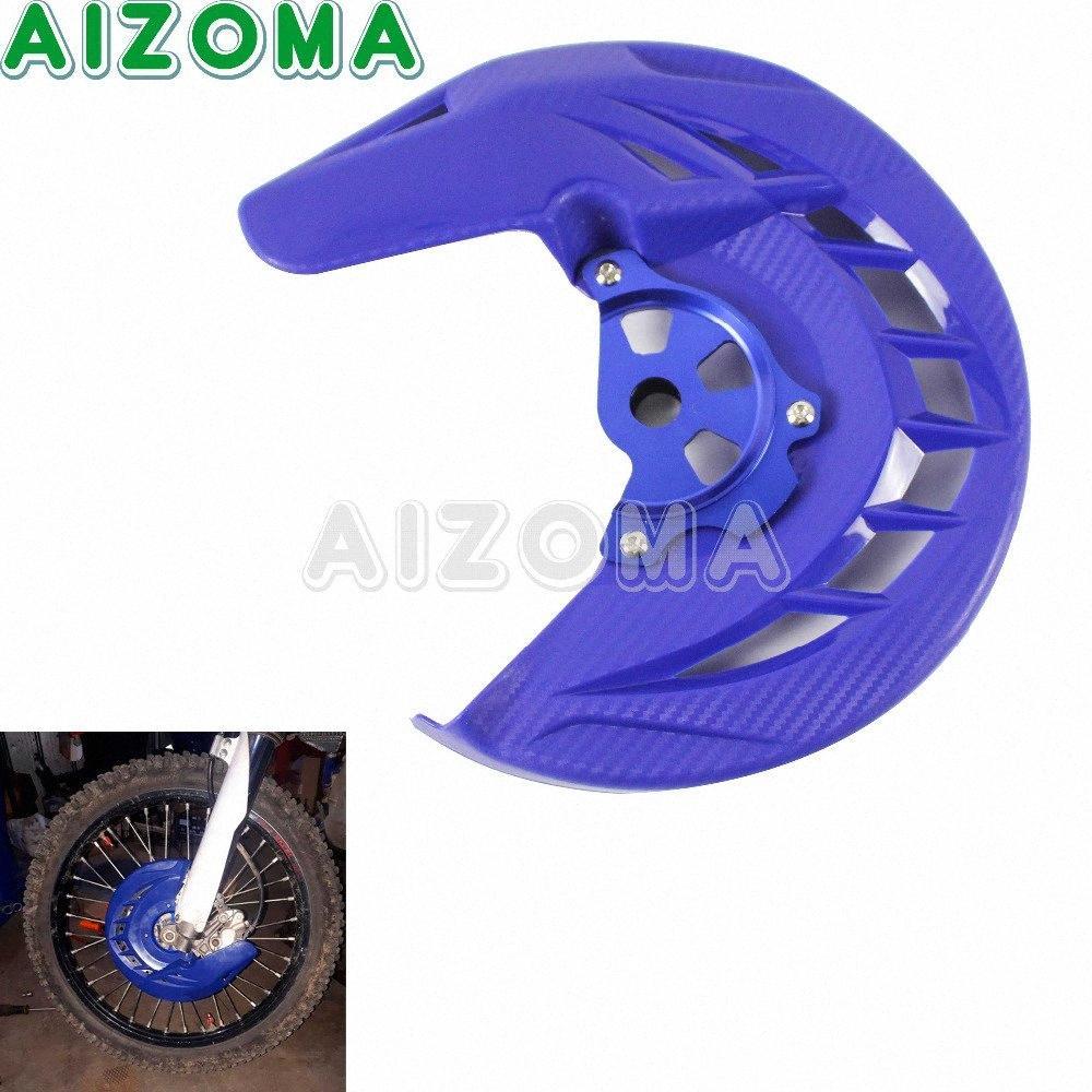 Motorbike Frente Brake Disc Rotor Guard para YZ125 YZ125X YZ250 YZ250X YZ250F YZ426F YZ450F WR250F WR426F WR450F 2002-18 KnAe #