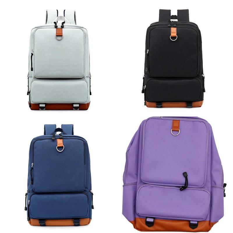 الصلبة لون حقيبة napsack قماش قدرة كبيرة مقاومة القدرات امرأة رجل الأزياء على ظهره اليومية لوازم الحياة 26SP K2