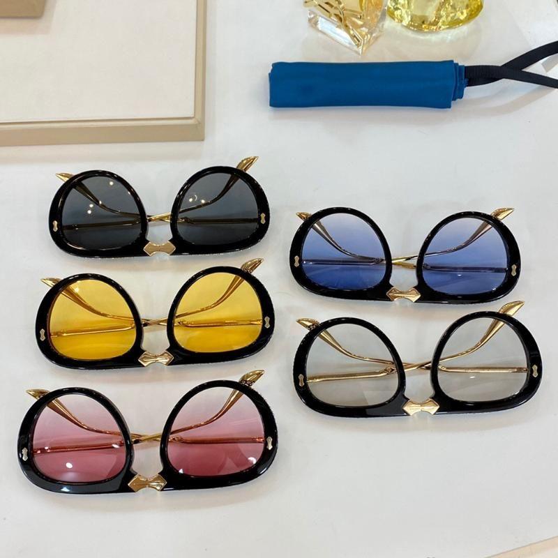 Marka Desinger Kadın Güneş Gözlüğü Ayna Güneş Gözlükleri Lady Gölge Güneş gözlüğü UV400 Kristal Moda Kadın Gözlük Üst Kalite