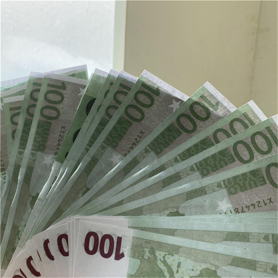 Money Fake 10 20 50 100 200 500 Realistic Prof Melhor Qualidade Cédulas Money 20 Euros UK Prop Money 100pcs / Pack