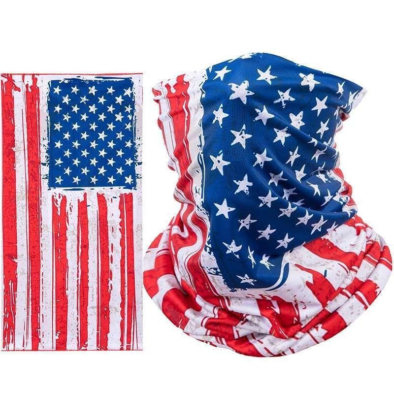 América bandeira máscara ciclismo respirando a máscara protetora esportes bandana bandana bicicleta metade rosto design rosto escudo cabeça cachecol ewa1988