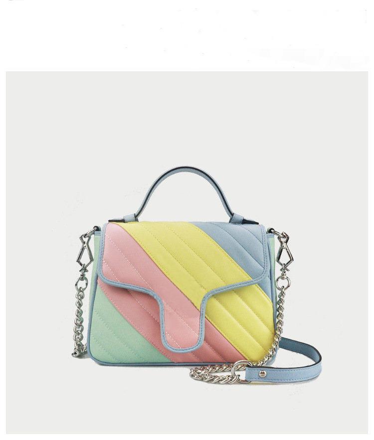 2020 Macaron 패션 핸드백 패션 가방 여성 가방 어깨 가방 정품 가죽 유명 브랜드 크로스 바디 가방