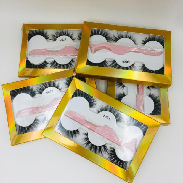 3 çift kutu 6styles içinde cımbız ile kalın Sahte 3D gerçek vizon kirpiklerini kirpikleri Yanlış kirpik 3d vizon kirpiklere satan Sıcak