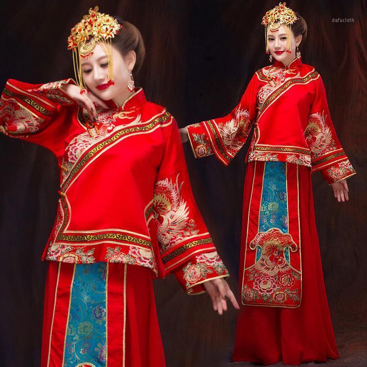 Kadınlar Gelin Törenlerinde Retro Çin Evlilik Kostüm Erkek Düğün Cuit Çin Geleneksel Kostüm Eski 181