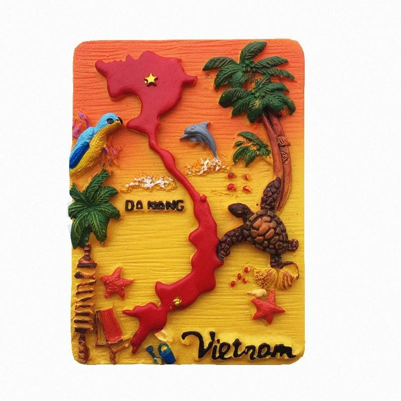 Lichi 3D Vietnam pintoresca isla imán de frigorífico creativo refrigerador magnético engomada decoración del hogar Viajes recuerdos yxRu #