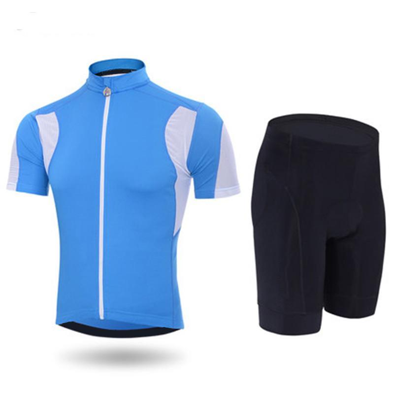 2020 Blue Sky Cycling Jersey 9D Pad Gel Bike Shorts Set VTT Ropa Ciclismo Sobycle Hommes d'été Bicyclette Maillot Wear