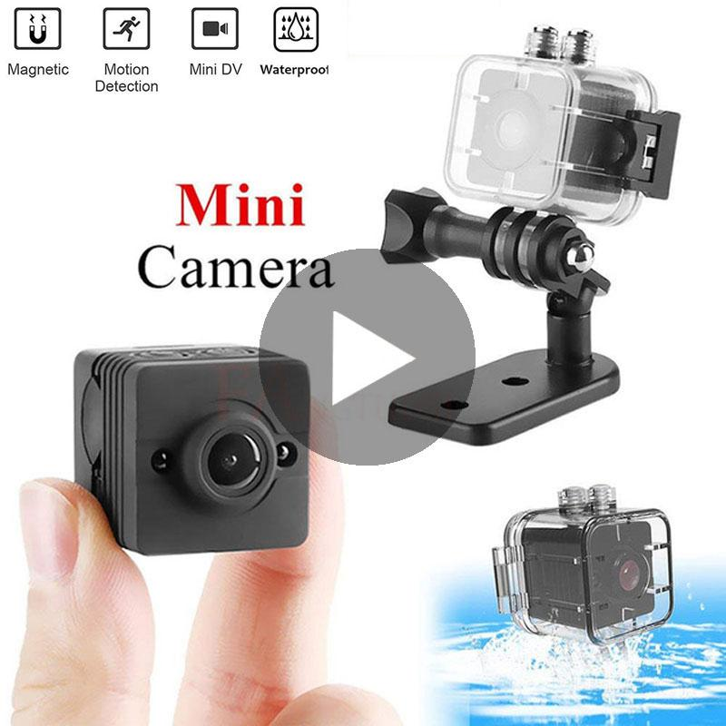 Su geçirmez Spor Kameralar Mini Kamera DV HD 1080P SQ12 Açık Kaydedici Kamera SQ 12 Gece Görüş Küçük Video Kameraları Cam 03 kızılötesi