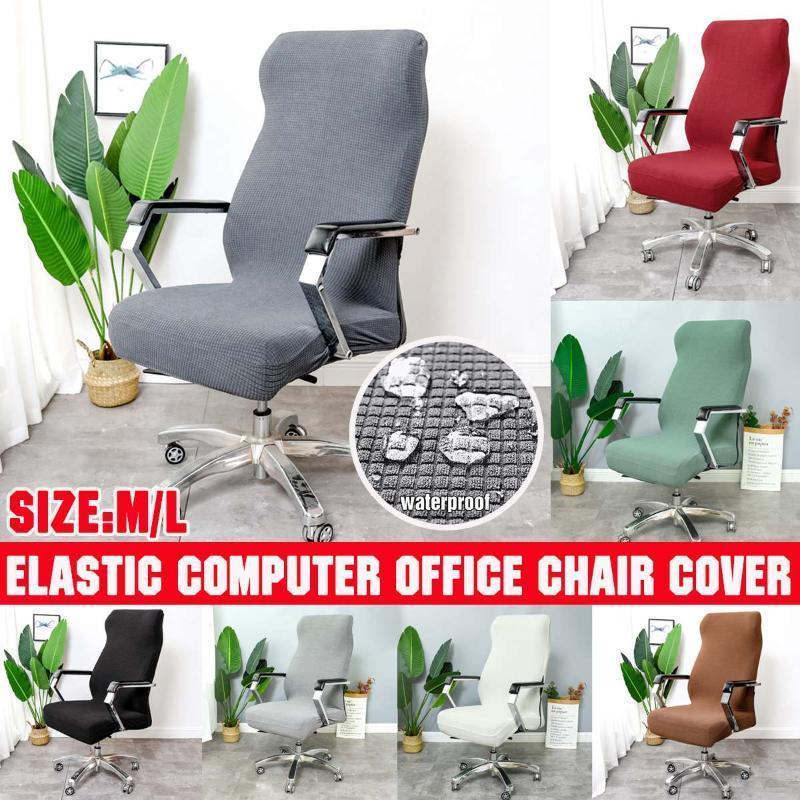 Sandalye Kapakları Kalınlaşmış Su Geçirmez Elastik Kapak Anti-Kirli Dönen Streç Ofis Bilgisayar Masası Koltuk Çıkarılabilir Slipcovers