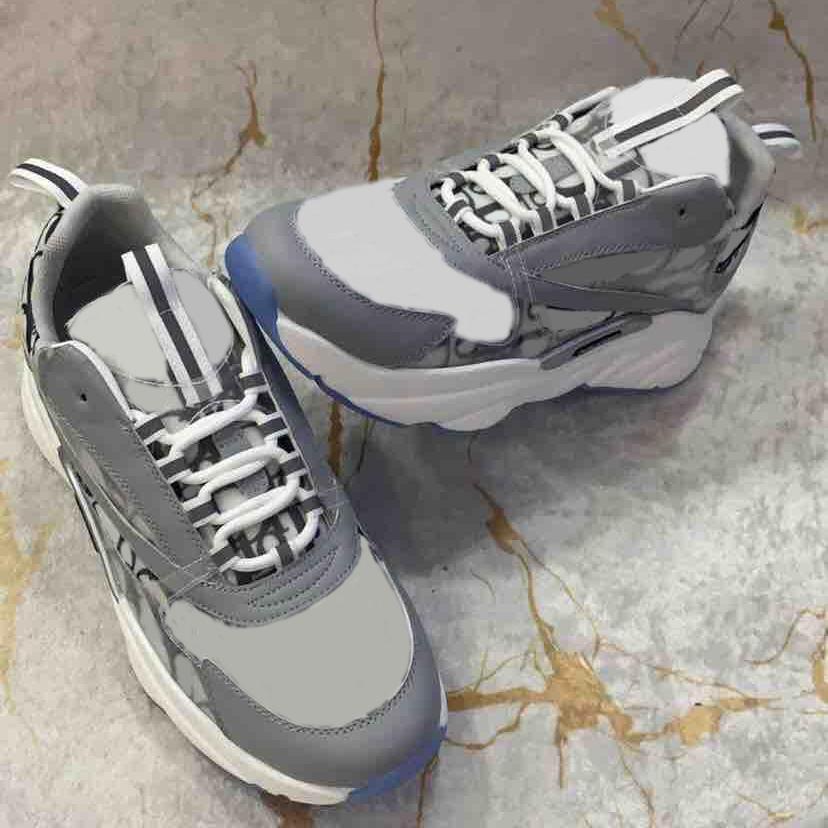 Uomini B22 Sneaker riflettente Piattaforma Vintage Sneakers Donne Lace-up in pelle di vitello Oblique Formatori Scarpe casual migliore qualità 35-46 con la scatola