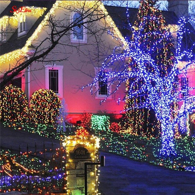 10M/100LED Snowflake Light String Romantic Fairy Star LED Lights For Wedding Home Party New Year Decoration 5zMM252 07lk#