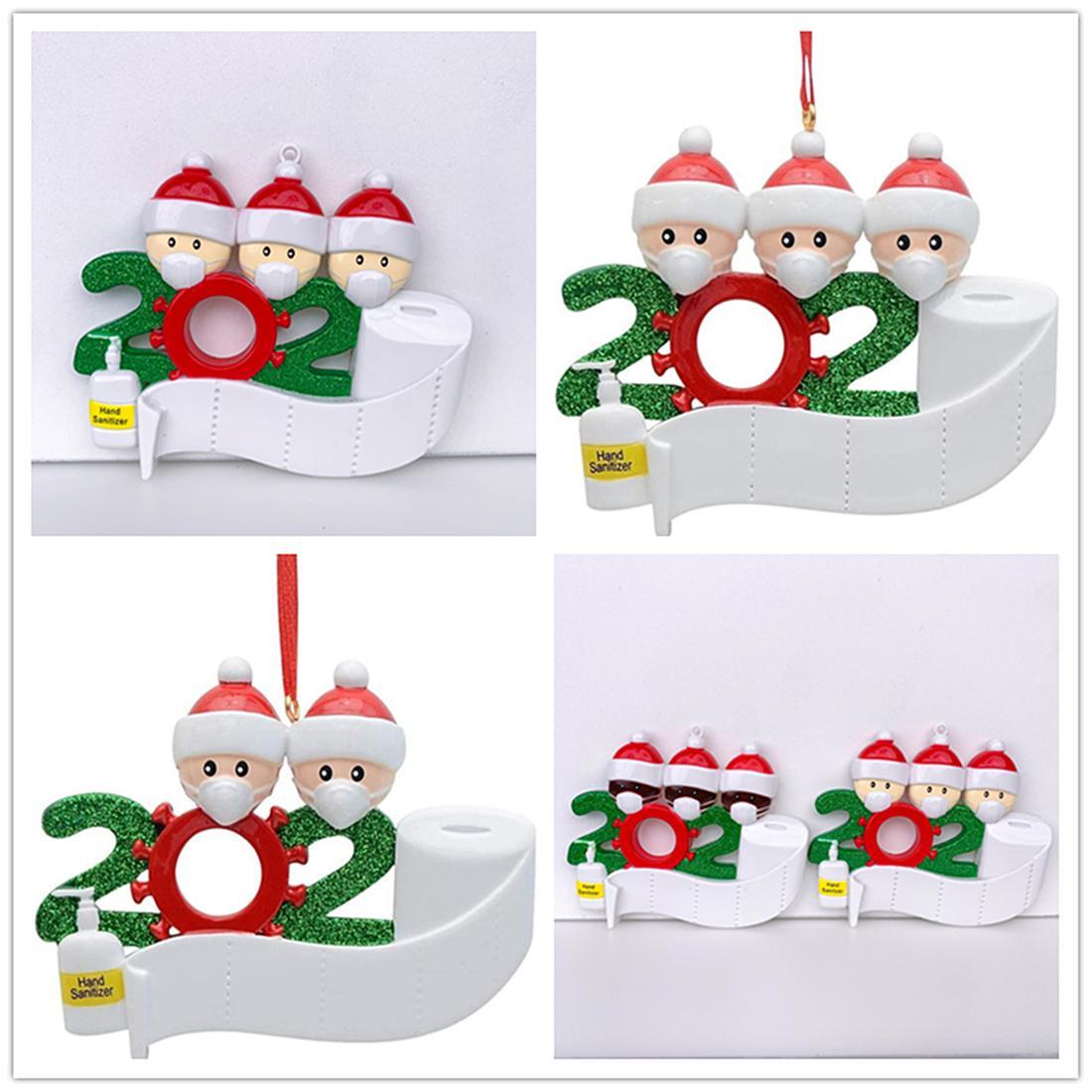 Sınır ötesi sıcak satış maskesi Kardan adam Noel ağacı asılı kolye PVC Noel kurtulan kolye yılbaşı süsü 02