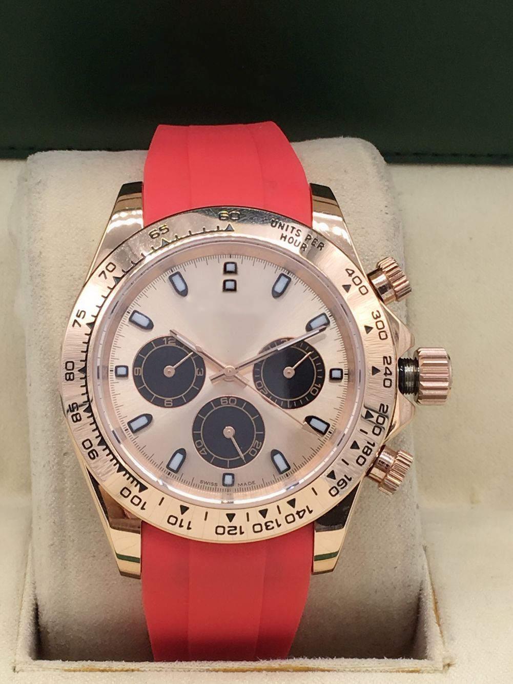 2020 년에 자동 기계식 6 핀 컬러 시계 밴드 패션 시계 레저 40mm Womens 시계의 뜨거운 판매 업그레이드 버전