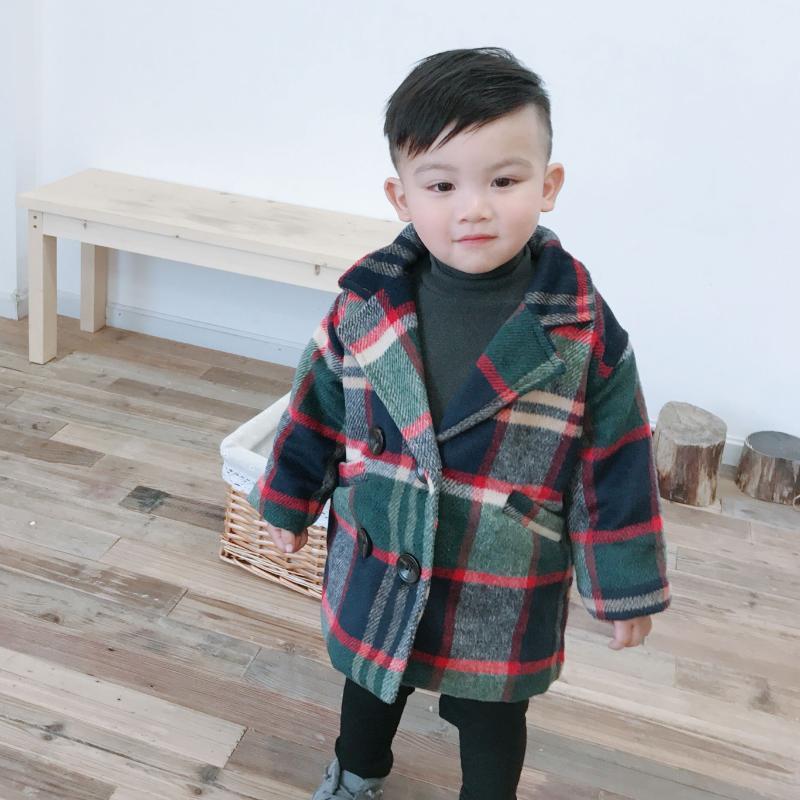 Kurtki Chłopiec Kurtka Dziecko Plaid Grubość Kids Coat 12M-6 Stare Rozmiar Jesień Zima 9BBT010