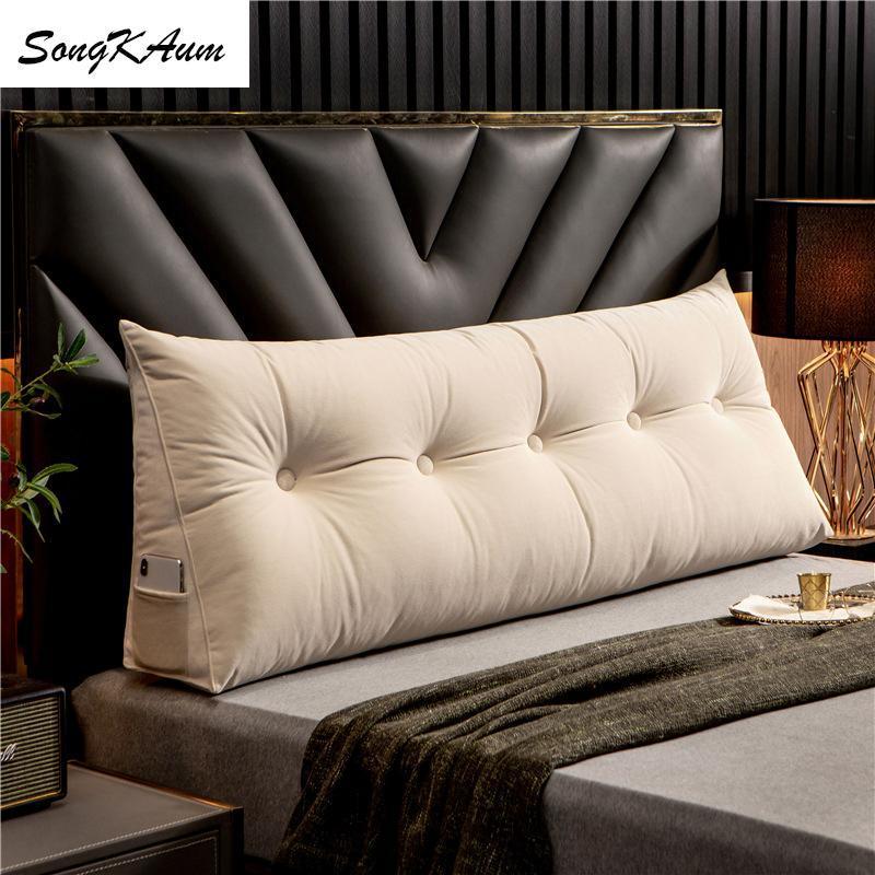 Songkaum Nordeuropa Moderne lange Nachtkissen mit füllwaschbarem Kissen Einzelne doppelte Homekissen Tatami zum Schlafen