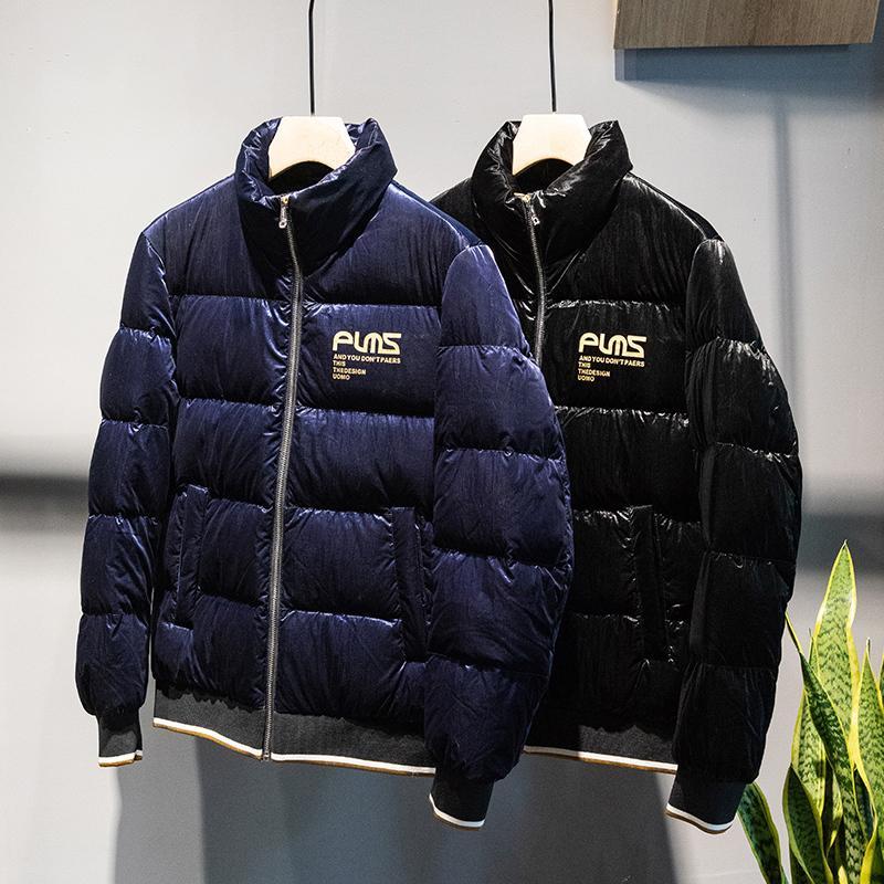 Para hombre invierno 2020 Nueva Corea caliente Casual chaqueta impermeable rompevientos pluma blanca de ganso chaqueta para los hombres