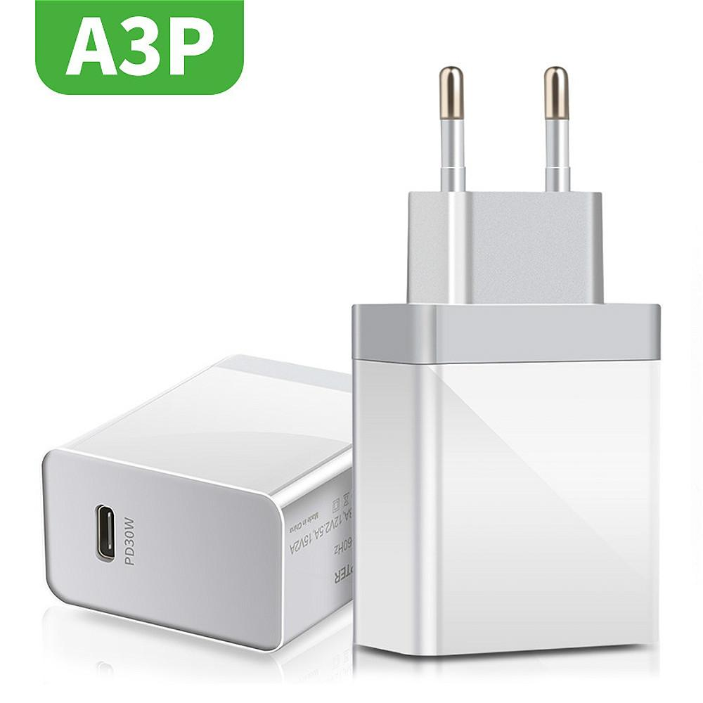 30W PD Charger QC3.0 USB Type C Fast Charger Quick Charge 4.0 3.0 QC Wholesale