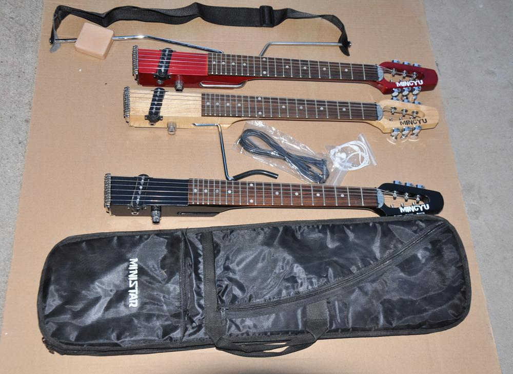 Mini Portable Travel /Children S Electric Guitar ,About 64 Cm ,Suitable For Children And Adult ,Three Colors Available