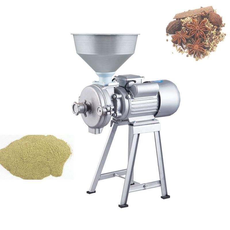 Máquina de refinación húmeda y seca eléctrica Molinillo de maní Molinillo doméstico para frijoles 220V Tofu Sesame Chili Sauce Harina Refiner HOT