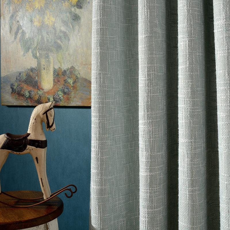 Cortinas Modernas Minimalistas Cortinas Europeas Color Sólido Ponga arpillera para sala de estar Dormitorio