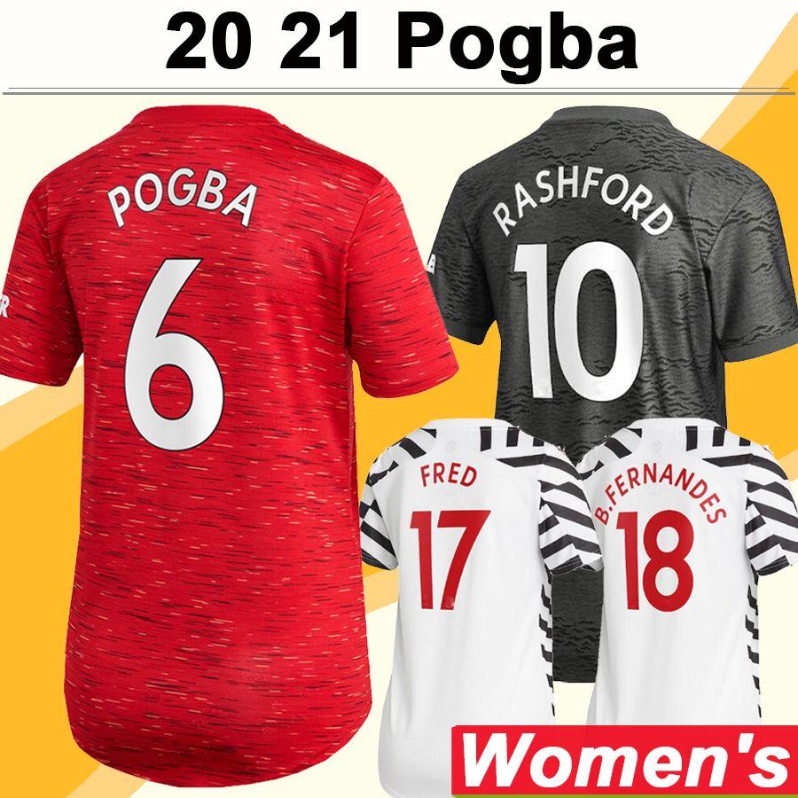 20 21 POGBA RASHFORD Women Soccer Jerseys MATA MARTIAL LINGARD Home Away 3rd Football Shirts WAGUIRE MATIC CAVANI Short Sleeve Lady Uniforms