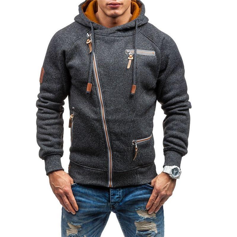 Hombres diseñadores Sudaderas con capucha Ropa Adolescente Hombre Color Sólido Otoño Sudaderas Hommes Jerseys 2 Colores Tamaño M-4XL